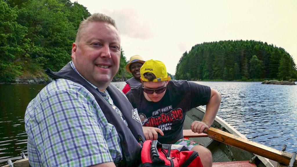 2014-Juli-18 Robåt på Nesvatnet-6-2