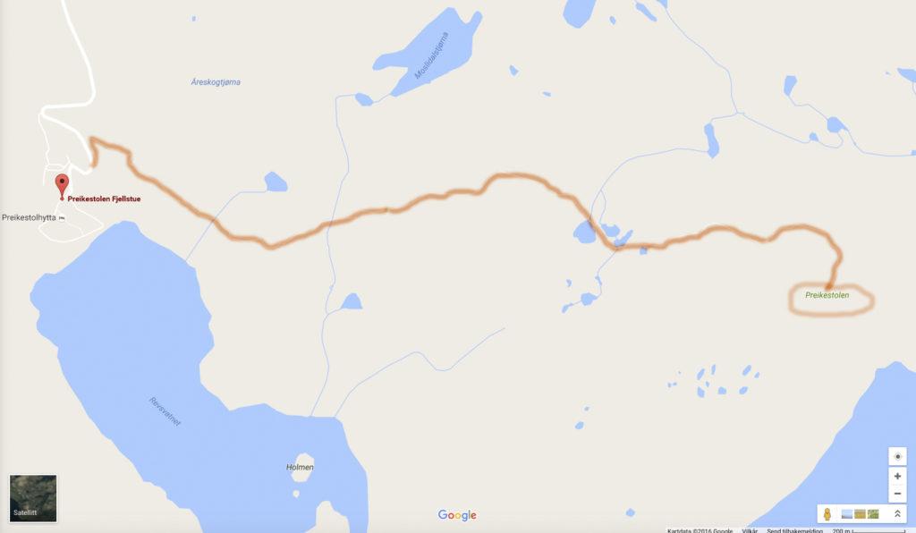Preikestolen - rute-1