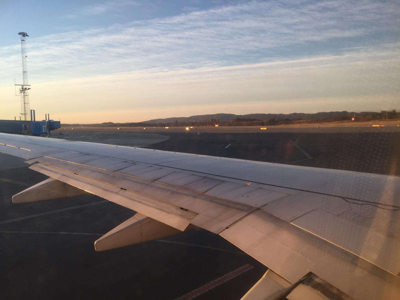 vakker flyreise bergen oslo tormod og belkis gundersen