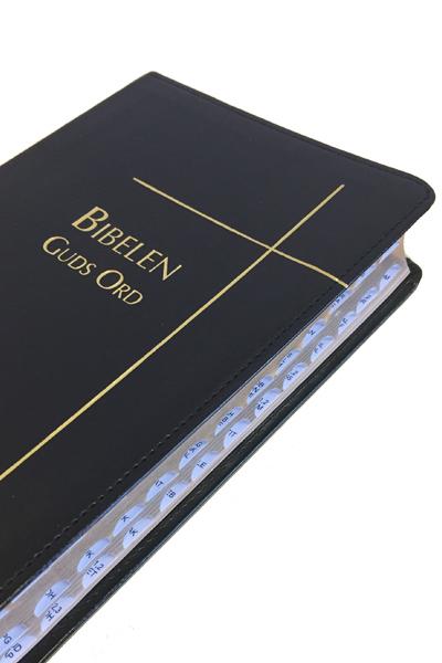 Biblen Guds Ord 2017 normal sort kunstskinn reg