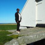 Utsikt nord-vest Hå Gamle Prestegard