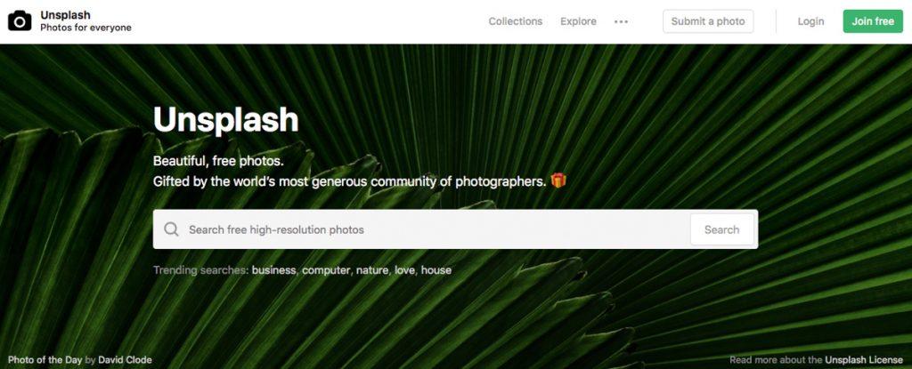 2018-mars Unsplash gratis bilder