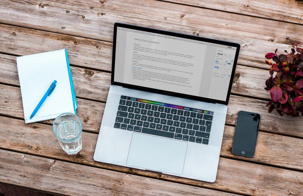 Macbook outdoor table-