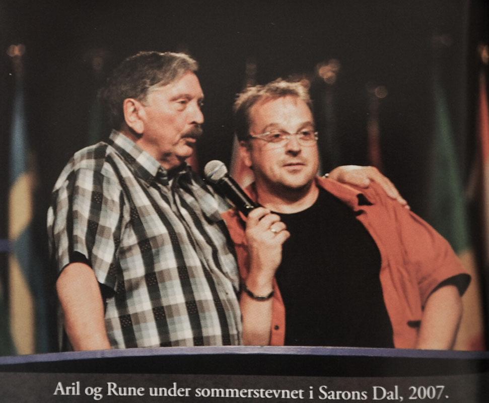 Rune (t.h) og Aril Edvardsen (t.v) sammen på Sommerstevne 2007.