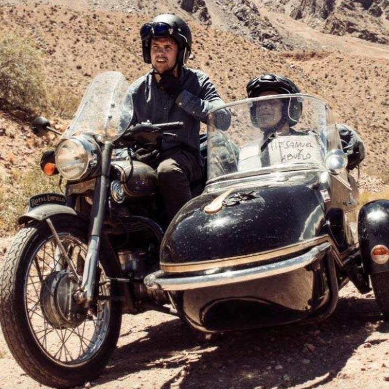 TV2 Samuel og Bestefar på motorsykkel