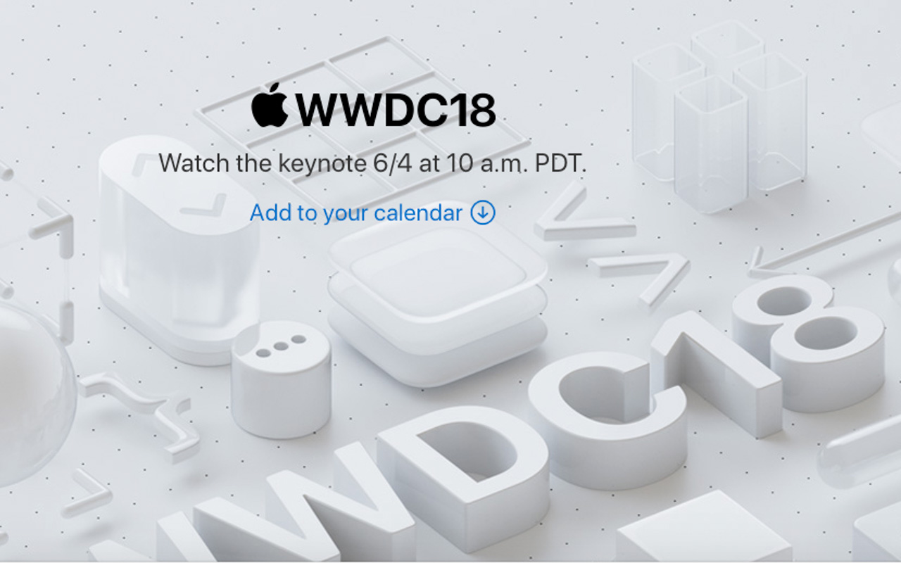 2018-juni-4 Apple WWDC18 skjermdump
