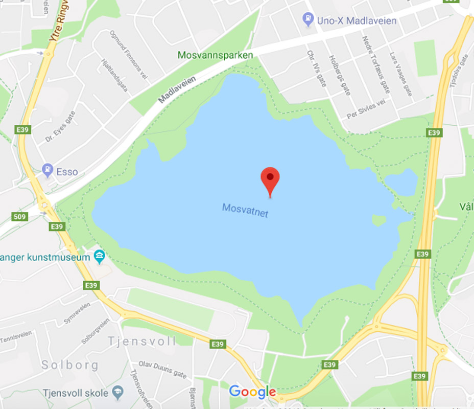 Google kart Mosevatnet